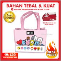 Tas Souvenir Ultah BT21 Pink Jungkook Goodie Bag BTS ARMY K POP