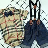 setelan baju kodok jumsuit bayi laki-laki 0-6 bulan - random, 0-6 bulan