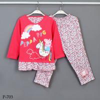 Baju Tidur Setelan Panjang Panjang Peppa Pig P-703 / PTP size 2-4-6