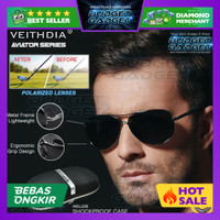 Veithdia Kacamata Aviator Polarized Sunglasses