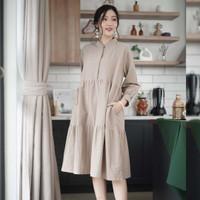 Freya Dress Beatrice Clothing - Midi Dress Wanita - Olive