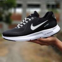 Sepatu Nike Airmax Zoom Hitam Putih Sport Casual Sneakers Running Pria