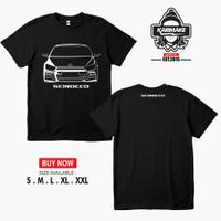 Kaos Baju Mobil VW Scirocco Kaos Otomotif - Karimake - Hitam, S