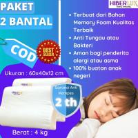 Sepasang Bantal Memory Foam Terapi Kesehatan Sakit leher Hiberlux