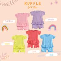 Baju pakaian anak perempuan anak cewe Ruffle Candy Set 1-5th