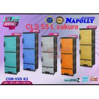 Lemari Pakaian 1 pintu Napolly CLS 55 L Sakura plastik rak laci baju