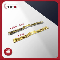 Stainless Jubilee 20 mm - Gold dan Silver Gold1