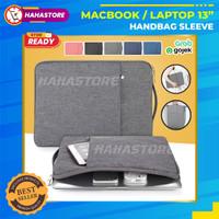 Tas Laptop 13 inch MacBook Notebook Handbag Sleeve Waterproof Cover - Abu-abu