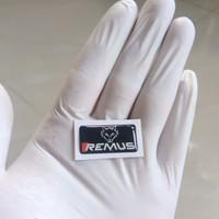 Stiker Emblem lentur Logo Remus