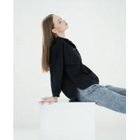 THIS IS APRIL - Garten Classic Button Shirt - Black