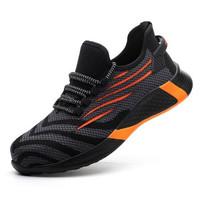 Sepatu Safety, Ringan dan Trendy Strip Orange 38 40