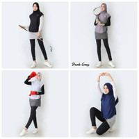 Hijab Sport Olahraga Rompi - Abu-abu, Vest