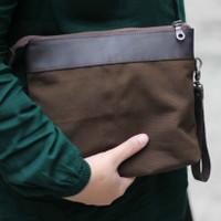 [ Handbag Anti Air Kulit Sapi Asli ] Tas Tangan - Pouch Material