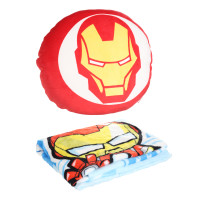 MINISO Marvel Bantal Sofa Kursi Selimut 36x36cm Mobil Kantor Rumah - Iron Man