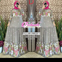 Baju Gamis Wanita Muslim Perempuan Dewasa Terbaru Elnara Maxy Dress 1