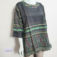 Atasan Blus Wanita Katun Printing Batik Etnis ALL SIZE JUMBO 30045