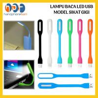 led light usb / lampu led elastis / lampu baca model sikat gigi