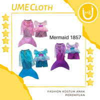 Fashion anak kostum Duyung / Mermaid / Putri Duyung anak murah - Biru, 5