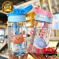 Botol Minum Anak Ocean World dengan Sedotan BPA FREE 480ml (B818)
