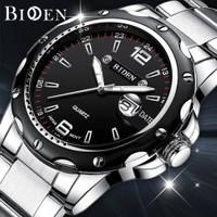 jam tangan Biden fashion pria analog pita jala bisnis