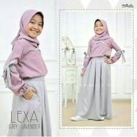 Baju Muslim Anak Perempuan Set Rok Lexa Terbaru 2021 Usia 8 9 10 Tahun