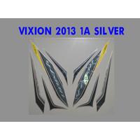 VIXION 2013 Motor Yamaha Stiker Striping Lis List Sticker - Silver