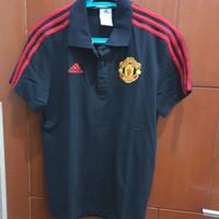 Kaos Baju Polo Shirt Adidas Original Manchester United MU Bola