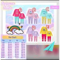 Pajamas Set Couple Aeraaqu Piyama Baju Tidur Anak Remaja 2-10 Tahun
