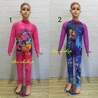 Baju Renang Panjang Karakter Cantik Anak TK - SD Kelas 1