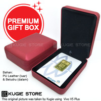 Kotak Perhiasan Kotak Emas Antam Bahan Velvet / Beludru - Merah