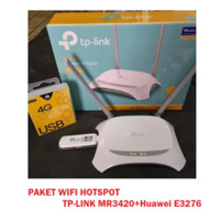 Paket Home Router 4G LTE SimCard TP-LINK MR3420 + Modem Huawei E3276