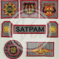 Atribut Satpam Set Bordir Security