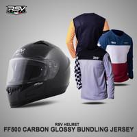 HELM RSV FF500 CARBON GLOSSY BUNDLING WITH JERSEY RSV
