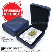 Kotak Perhiasan Kotak Emas Antam Bahan Velvet / Beludru - Dark Blue