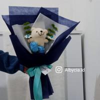 AAG-Buket bunga boneka murah buket wisuda simpel