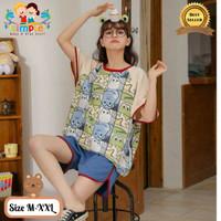 Piyama Wanita/Setelan Baju Tidur Import Remaja-Dewasa Pendek Kodok