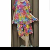 Baju Tidur Batik Anita Baby Doll Celana Pendek Size XL