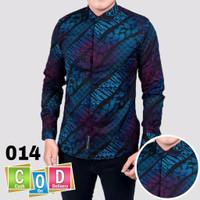 Kemeja batik Pria lengan Panjang Baju Batik Cowok kondangan terlaris