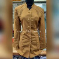 Baju Blazer Kerja Kantor Guru Wanita Pemda PNS Dinas 942 Cantik Khaki