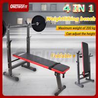 Onetwofit Bench press kecil Multi fungsi Berat Bangku