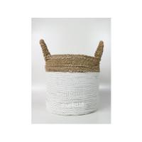 Dia 30 cm/Keranjang Anyaman Plastik-Seagrass/Putih/Cover Pot/LW07-M