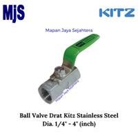 Ball Valve Screw KITZ Dia. 2 / Kran Drat SS316 (Stainless Steel)