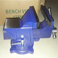 Ragum Putar Bais Catok Besi Tanggem Paron Bench Vice 5 Inch 125mm