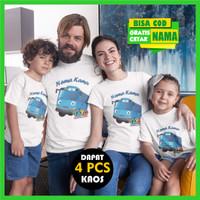 Baju Kaos Couple Keluarga Family Tayo Gratis Cetak Custom Tulis Nama