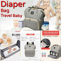 diaper bag travel baby bed portable multifungsi | tas ransel bayi