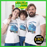 Kaos Couple Keluarga / Baju Family (2 Dewasa Dan 1 Anak) - Tayo-Tayo