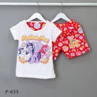 Baju Tidur Setelan Pendek Pendek My Little Pony P-655 / H size 2-4-6