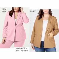 blazer jas wanita jumbo bigsize oversize kerja kantor outer xxl xl