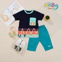 Setelan Baju Kaos Anak Laki Laki 1 2 3 4 5 6 7 8 9 10 Tahun - Biru Navy, 2