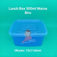 Lunch box mini 500ml BIRU - Thinwall Kotak Makan -Food Container Bekal